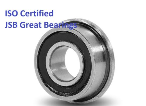 Flange ball bearing FR8-2RS rubber seals FR8RS high quality FR8 RS Qty.20