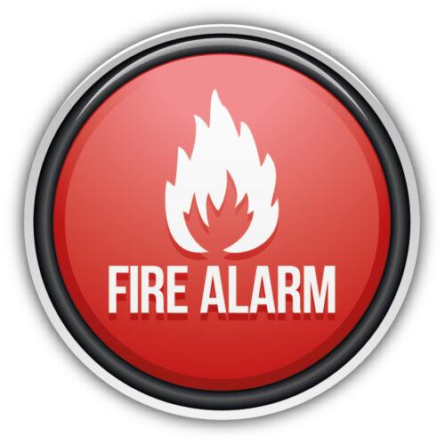 Fire Alarm Glossy Sign Car Bumper Sticker Decal 5/'/' x 5/'/'