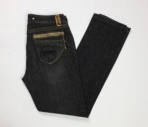 Nemo-jeans-dixi-donna-usato-slim-denim-w28-tg-42-stretch-boyfriend-scuro-T3342