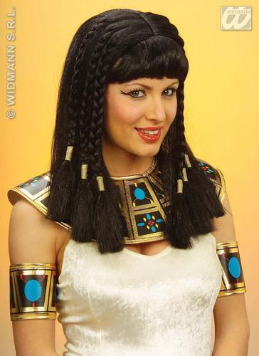 Ladies Black Cleopatra Wig Egyptian Braids Braided Shakespeare Fancy Dress