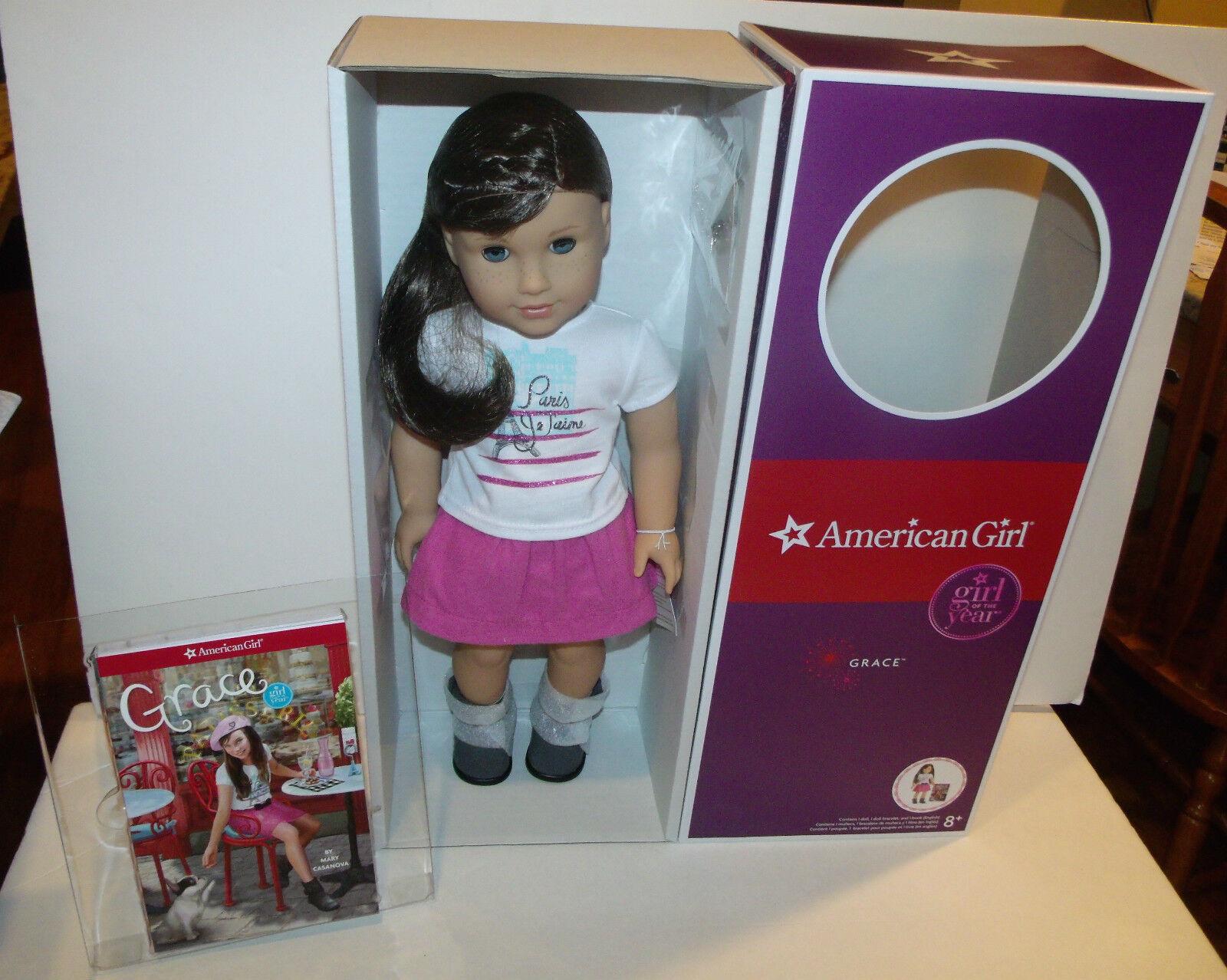 American Girl Doty 2015 Grace Thomas Muñeca & LIBRO & Pulsera  Nuevo En Caja