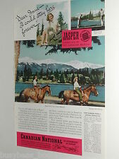 1940 Canadian National Railways advertisement, Jasper Alberta, CNR