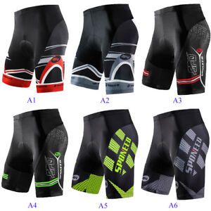 Padded Cycling Shorts Men MTB Road Biking Trousers Stretchy Bicycle Wear Tights