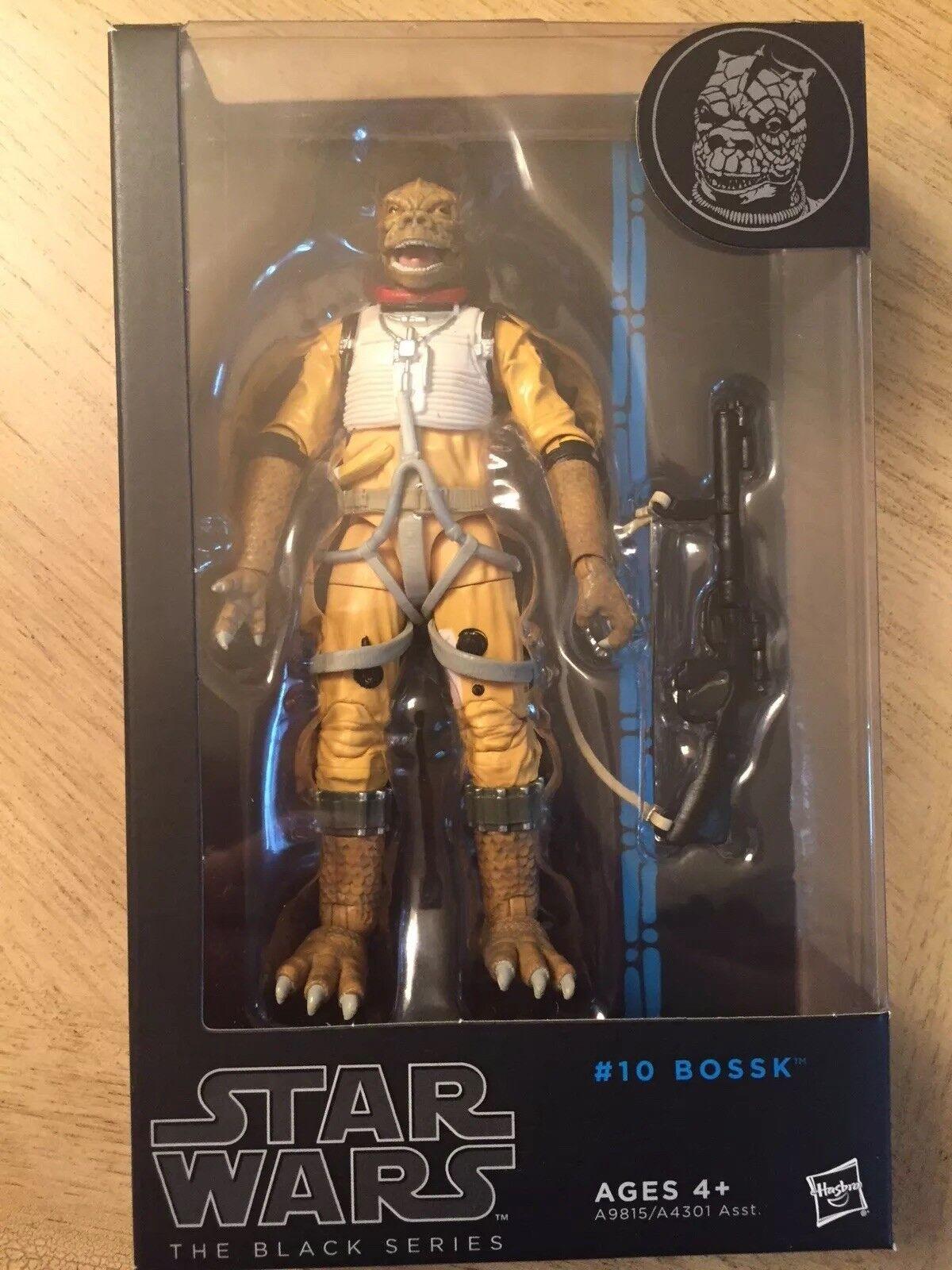 Guerra De Las Galaxias La Serie Negra Nº 10 Bossk 6  pulgadas figura de acción juguete nuevo menta en caja Bossk
