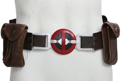 Movie Deadpool Buckle Belt /& Pockets Replica Cosplay Accessory XCOSER