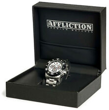 Affliction - GENTS CHRONOGRAPH STEEL - Men's Watch - NEW - AF3612S -  White