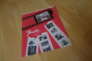 1962 fender insert catalog catalogue brochure downbeat stratocaster