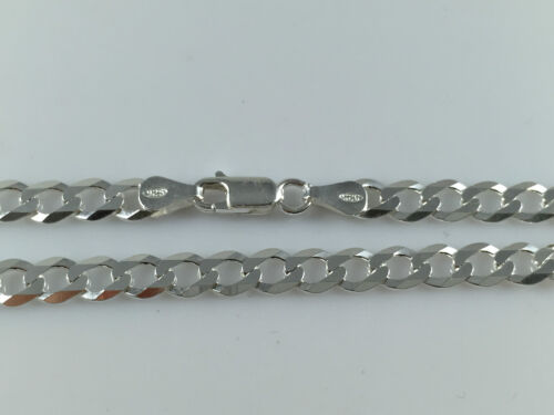 925 Sterling Silver Mens Boys Solid Chain Necklace Flat Curb Various Lengths