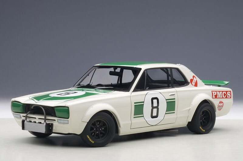 Autoart NISSAN SKYLINE GT-R KPGC-10 JAPAN GP 2ND PLACE 1971 1971 1971 HASEMI  18 New  523afa