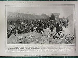 1915 Première Guerre Mondiale G.Mondiale 1 Imprimé ~ Enemy Camp au avant cACpcUMo-08045228-506631635