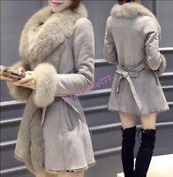 Korean Fur Collar Mid Long New Womens Lapel Jacket Warm Winter Winter Coat Parka