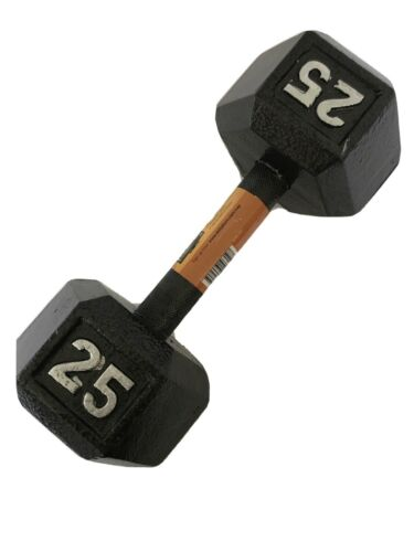 CAP 25 LB SINGLE Dumbbell Cast Iron Hex 25 Pound #SDB2-025 NEW FREE FAST SHIP