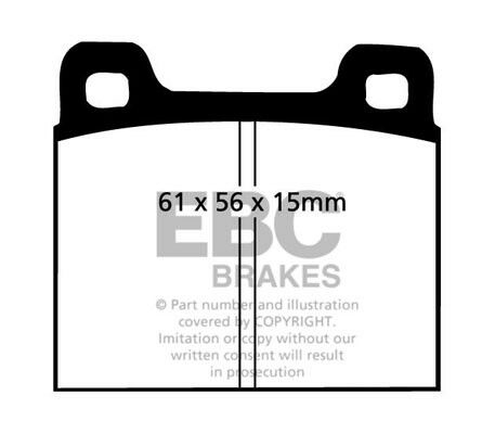 EBC Ultimax Front Brake Pads for Opel GT 1.9 69 /> 73