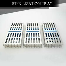 3 Trays Sterilization Tray Sterile Dental Instruments Cassettes Small Parts
