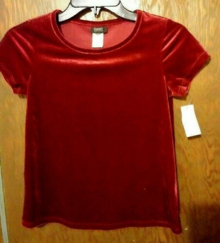 Basic Editions Holiday Fashions Girls/' Velour Tops or Pants