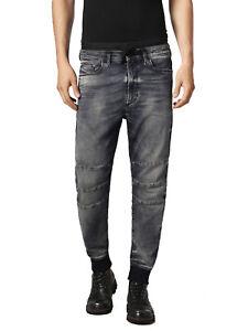 Diesel-Koney-Bn-Ne-0680P-Felpa-Uomo-Jeans-Pantaloni-Slim-Carota