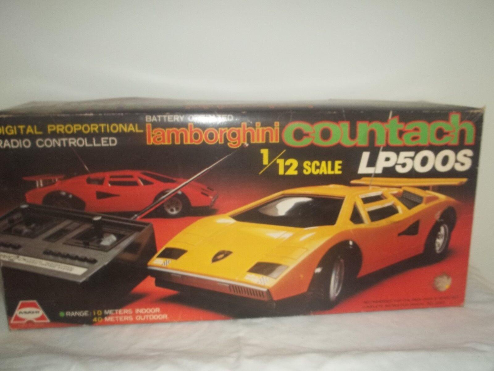 Vintage Rare Asahi R C Lamborghini LP500S 1 12 New