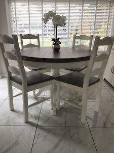 BARKER AND STONEHOUSE DINING TABLE AND FOUR CHAIRS ...