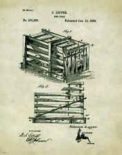 Wild Boar Hog Hunting Patent Poster Art Dog Supplies Guided Hunt Light PAT166