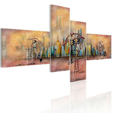 HD Canvas Prints Home Decor Wall Art Painting Abstract Rain City Scape Unframed