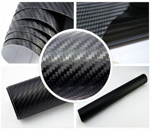 3,5 €//m² Carbon Film Noir 3d structure bulles mouvement Film Flex auto-adhésif