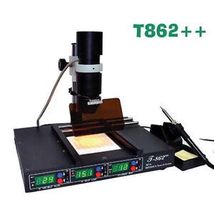 IR BGA Infrared Rework Station Löten SMD IRDA Welder Schweißgeräte 800W T862+