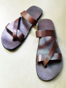 a4af898d44d2a4 Hobo Roman Handmade Leather Sandals Clip Toe Strap Flats Men Tomboy ...
