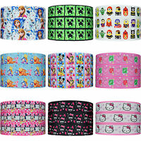 "200+ Designs 22mm (7/8"") Cartoon Grosgrain Ribbon Party Cake Hair Bow Clips"