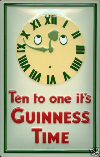 hi Guinness Ten to One embossed steel sign 300mm x 200mm