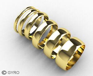 Wedding-ring-D-shaped-Band-Yellow-Gold-UK-Made-and-Hallmarked-High-Polish-Finish