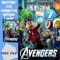 THE AVENGERS - PERSONALISED Birthday Card Son Brother Nephew Grandson