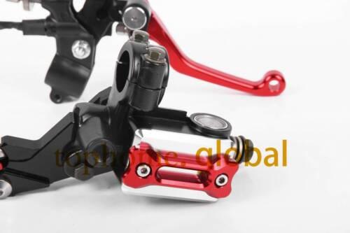 Red Brake Master Cylinder Reservoir levers set For Honda CRF250X CRF230F SL230