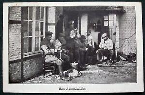 Peeling Potatoes German Army orig 1918 WW I Bavarian Soldier's Mail Feldpost