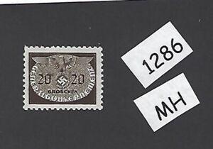 #1286 Menthe à Charnière 1940 20 G Timbre/swastika/occupé Pologne/troisième Reich-afficher Le Titre D'origine Acheter Un En Obtenir Un Gratuitement
