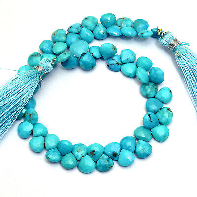 Price per piece. Turquoise 6 MM Plain Briolette  Stabilized Turquoise  Good Quality