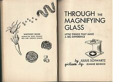 THROUGH MAGNIFING GLASS Julius Schwartz 142 Pages Fully Illus Index 1954