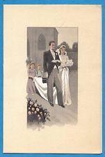 TRES BEAU MENU DE MARIAGE VIERGE ANCIEN VERS 1930