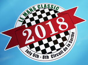 LE-MANS-24-HOURS-039-CLASSIC-039-2018-PAIR-of-stickers-decals-200mm-x-275mm