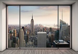 nyc new york city manhattan skyline penthouse view photo wallpaper