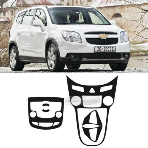 Carbon Center Fascia Audio Panell Steeing Wheel  Decal  for 10-16 Chevy Orlando