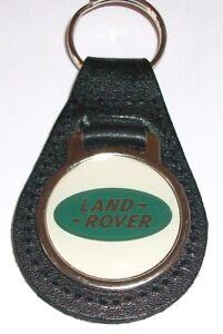 LAND-ROVER-ACRYLIC-BADGED-BLACK-LEATHER-KEYRING