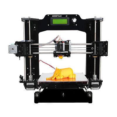 Support 6 filament Prusa I3X 3D Printer Full Acrylic Frame DIY MK8 Extruder LCD