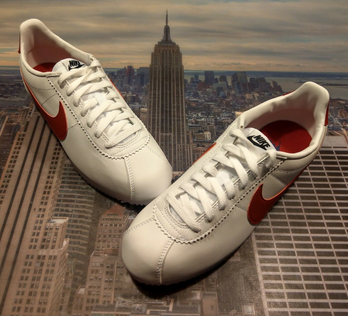 Nike Womens Classic Cortez Leather Forrest Gump White/Red Size 10 807471 103 New