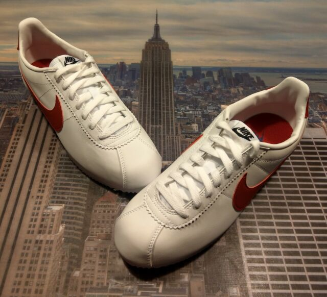 pick up 79fdc 2ef18 Womens Nike Classic Cortez Leather Size 10 Forrest Gump White Red 807471 103