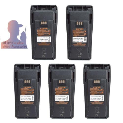 Lot 5 NNTN4851 Ni-MH Battery for Motorola CP040 CP140 CP150 CP160 Portable Radio