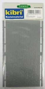 BNIB-OO-HO-GAUGE-KIBRI-34121-NATURAL-STONE-WALL-PLASTIC-SHEET-12cm-x-20cm