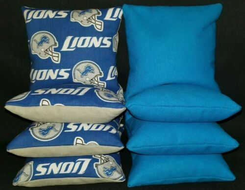 Detriot Lions Set of 8 Cornhole Bean Bags FREE SHIPPING