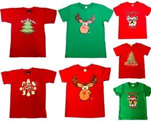 New Kids Boys Girls Christmas Xmas T Shirt Tee 100% Cotton Top