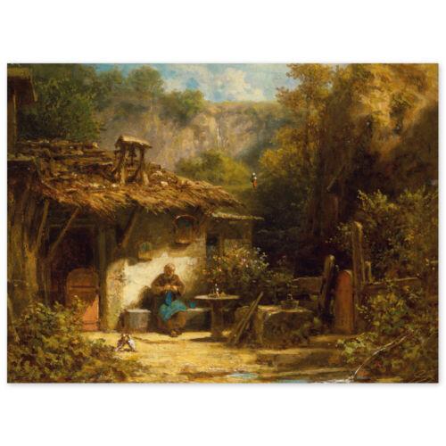 Poster Karl Franz Carl plantain strickender Hermit