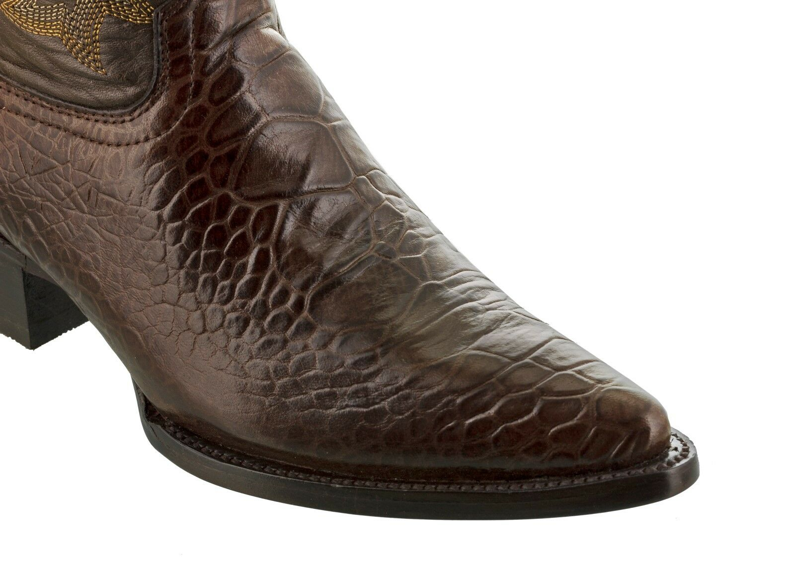 Mens Exotic Crocodile Sea Turtle Turtle Turtle Design Marrone Western Leather Cowboy stivali New fa669e